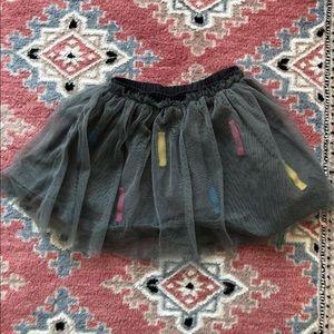 Grey girls Zara tulle skirt